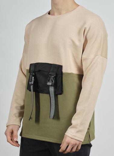 XHAN Taş Rengi Cep Detaylı Sweatshirt 1Kxe8-44279-56 Kahve